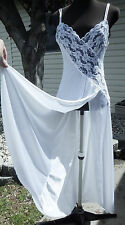 VINTAGE VAL MODE SEXY LONG NIGHTGOWN GOWN LACE PETITE