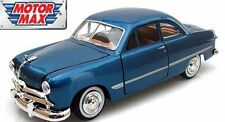 MotorMax 1949 Ford Mercury Coupe Blue 1/24  Diecast cars 73213AC-BL