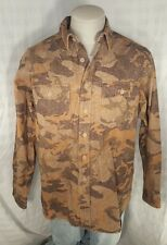 LARGE  Vintage LL Bean Mens Chamois Camo Camouflage Hunting Shirt Mens Very Nice