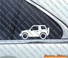2X Suzuki Sidekick / Vitara 2-Door softtop (1989-1998) 4x4 outline STICKERS S463