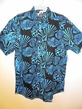 "VOLCOM Men's ""Oldskool"" S/S Button-Up Shirt - EBL - Medium  Reg $70"