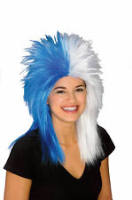 BLUE & WHITE Sports Fan Wig UCONN Huskies / Indianapolis COLTS NCAA NFL Football