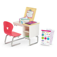 "American Girl MY AG FLIP TOP DESK MISSING PROTRACTOR for 18"" Doll Chair Book NEW"