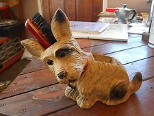 VINTAGE SCOTTIE DOG SCOTTISH TERRIER BRUSH CADDY VALET CLOTHES SHOESHINE