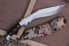 """12"""" Full Tang Custom Farmer Kukri, Hand Forged Blade EGKH Khukuri Knife Machete"""