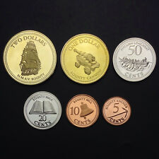 Pitcairn Islands Set 6 Coins, 5+10+20+50 cents +1+2 dollars, 2009-2010, UNC
