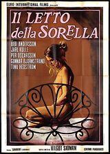 IL LETTO DELLA SORELLA MANIFESTO CINEMA FILM BIBI ANDERSSON SEXY MOVIE POSTER 4F