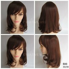 Cheap Shoulder Length Curly Layers Light Brown Fashion Hair Wig  (500 33/30)