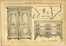 1900 18th Century French Furniture Oak Wardrobe And Chest