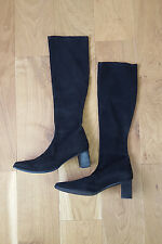 *STUART WEITZMAN* SUEDE PULL ON BOOTS (38.5 B)