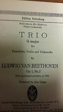 Beethoven: Trio In G Major: Opus1 No.2: Music Score (M10G06)