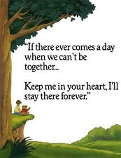 "Winnie The Pooh ""If there Ever Comes A Day"" iron on transfer  4x5"