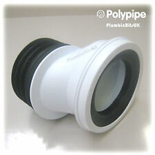 "Polypipe SK52 Kwickfit 40mm Offset Down From Centre 4"" WC Toilet Pan Connector"