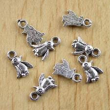 80pcs Tibetan Silver penguin Charms Findings h0631