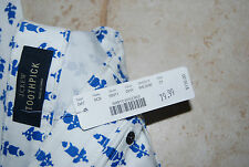 NWT White & Blue Floral Print J CREW Toothpick Stretch Ankle Jeans 31