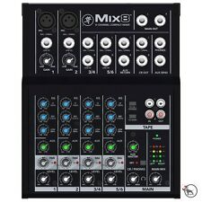 Mackie Mix8 8-Channel 3-band EQ Portable Live Studio Compact Mixer Mix 8 - Used