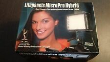 NEW LitePanels MicroPro Hybrid Kit LED on-board Camera Light (LP MICROPROH)