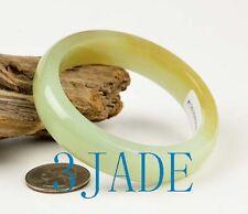 56mm Hetian Nephrite Jade Bangle Bracelet w/ Certificate
