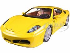 FERRARI F430 YELLOW 1/24 DIECAST MODEL CAR BY BBURAGO 26008
