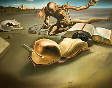 Salvador Dali Book creates a book giclee 8X12 canvas print Reproduction