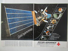 11/1983 PUB BRITISH AEROSPACE OLYMPUS SATELLITE SPACE ESA ORIGINAL AD