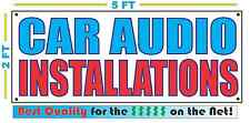CAR AUDIO INSTALLATIONS Banner Sign NEW Larger Size Best Quality for The $$$