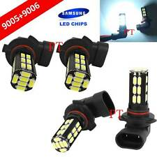 Combo 9006-HB4 9005-HB3 Samsung LED 30 SMD White Headlight Light Bulb Hi/Lo Beam