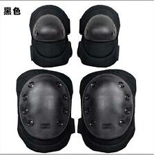 New Black Military Tactical Protective Knee Elbow Pad Motor Bike Skate Airsoft