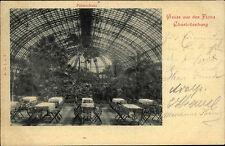 Berlin um 1900 Palmen-Haus Gruss aus der Flora Charlottenburg alte Ansichtskarte