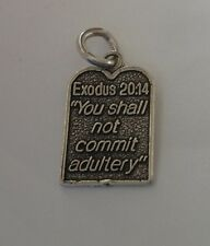 Sterling Silver 7th of 10 Commandments You shall not commit adultery Charm