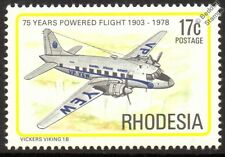 CAA Vickers VIKING 1B Airliner Aircraft Mint Stamp (1978 Rhodesia)