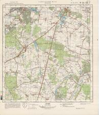 Russian Soviet Military Topographic Map – PRUSZKOW (Poland), 1:50 000, ed. 1987