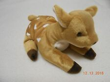 RARE TY BEANIE BABY WHISPER MWMT PROTECTOR ON SPOTTED FAWN DEER Tag Errors Easte