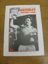01/08/1984 Wembley v Brentford [Friendly] (folded). Thank you for viewing this i