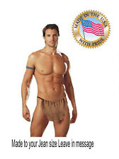 caveman Loin costume Tarzan cloth sexy  Caveman Costume Made to your Jean size