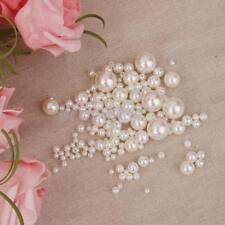 150x Pearl Beads Resin Round Loose Pearl Spacer for Findings Jewelry Making