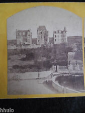 STA307 Trois belles demeures architecture vintage Photo 1900 STEREO stéreoview