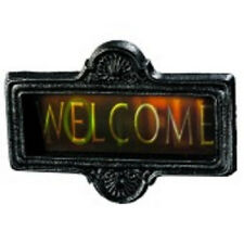 Welcome to Hell Changing Gortrait Sign Haunted House Halloween Party Decoration