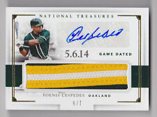 YOENIS CESPEDES 2016 National Treasures Game Dated Patch Auto #D 6/7 As Mets