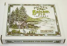 INCENSE & BURNER with 32 balsam fir cones Paine's wood holder