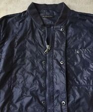 EXCELLENT JOHN VARVATOS Mens Full Zip Jacket Coat L Large Dark Blue
