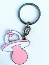 12 Baby Shower Key Chain Pacifier  Pink Girl Baby Shower/recuerdos de babyshower