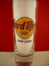 HRC Hard Rock Cafe San Juan Classic L. Black Letter Shot Glass Schnapsgl.