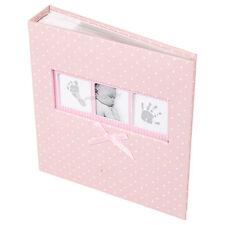"""Baby Girl Rosa Bianco A Pois FOTO ALBUM 200 fotografie 6"""" x 4"""" immagine libro"""
