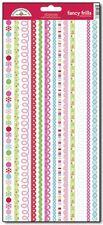 Doodlebug Design HAPPY HOLIDAYS Fancy Frills Glitter Border Stickers Scrapbook