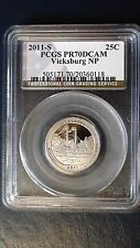 2011-S 25C Vicksburg NP PCGS PR70DCAM Proof America the Beautiful Quarter DC