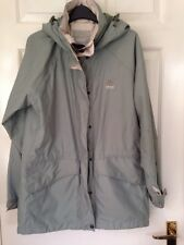 Crag Hoppers Aqua Dry Coat Jacket Waterproof Size 10 Green Excellent Condition