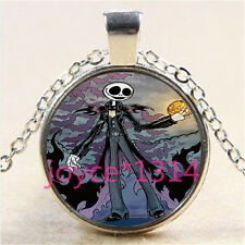Nightmare Before Christmas Cabochon silver Glass Chain Pendant Necklace %3050