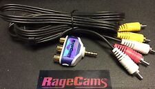 RCA AUDIO VIDEO AV PLUG+4' CABLE FOR MYVU 701 CRYSTAL SOLO PLUS 301 GLASSES LCD