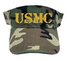 USMC MARINE TEXT CAMO CAMOUFLAGE SUN VISOR MILITARY LAW ENFORCEMENT